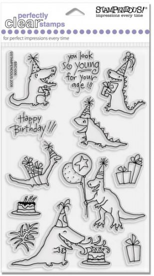 Stampendous Clear - Prehistoric Party