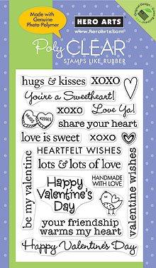 Hero Arts PolyClear - Valentine Sayings