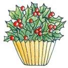 Lockhart Stamp Co - Holly Cupcake