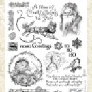 Crafty Secrets-Clear Art Stamps - Vintage Christmas