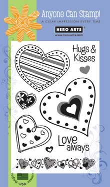 Hero Arts Clear Design- Hugs & Kisses