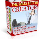 Easy to use Sales Letter Creator eBook