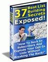 37 Best List Building Secrets Exposed eBook