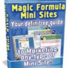 Magic Formula Mini Sites