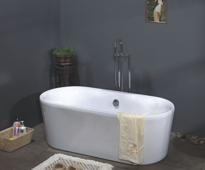Aries modern freestanding bathtub faucet cheap bathtubs for New tub over old tub