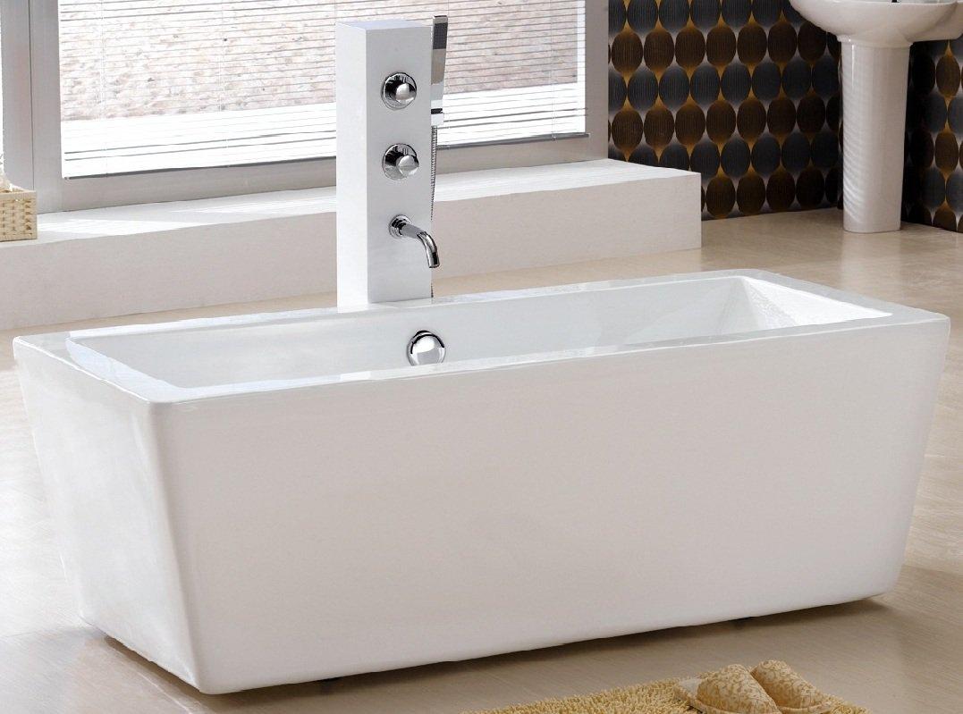 Junko Small Modern Free Standing Bathtub & Faucet