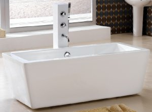 Junko Small Modern Free Standing Bathtub & Faucet