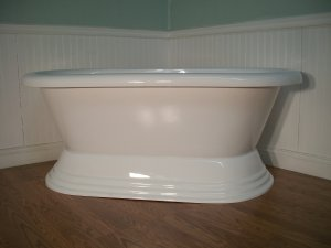 "60"" FREE STANDING PEDESTAL BATHTUB & DRAINSET clawfoot"