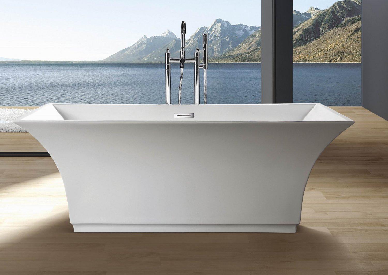 Maryann Modern Free Standing Bathtub & Faucet with Drain Set