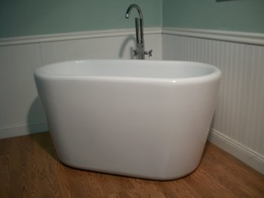 "Yaeko 52"" Japanese Influenced Soaking Tub and Faucet"