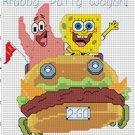 Spongebob & Patrick in Krabby Wagon