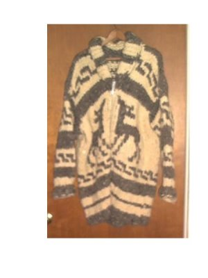 CANADIAN JACKET ALL NATURAL WOOL  IMPORT