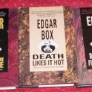 Edgar Box  DEATH IN THE FIFTH POSITION, DEATH LIKES IT HOT , DEATH BEFORE BEDTIME