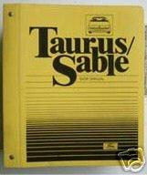 1986 TAURUS/SABLE SHOP MANUAL   HUGE 50 SECTIONS