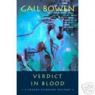VERDICT IN BLOOD GAIL BOWEN  NEW! ADVANCED READING COPY