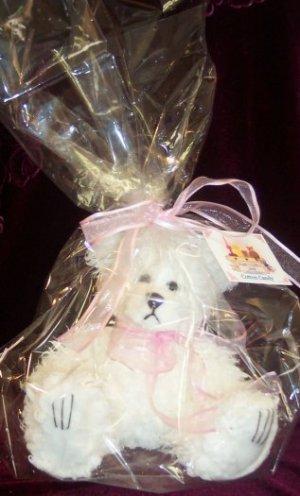 Dipped Scraggle Long Hair Teddy Bear, Baby Powder Girl