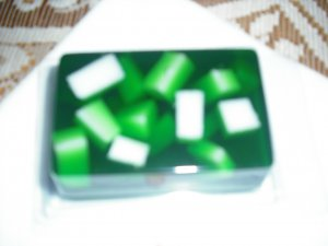 Hand Made Rectangle Shaped Chunky Soap, Green Color You Choose Scent