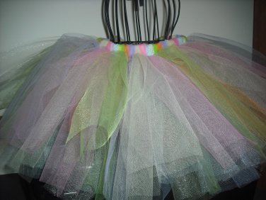 Hand Made TUTU Skirt Easter Colors 18 Months - 2T
