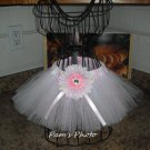 Hand Made TUTU Skirt,  Light Pink & White