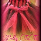 Hand Made TUTU Skirt,  Fushcia & Black