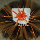 Hand Made TUTU Skirt, 2 Tone Orange Newborn - 3 months