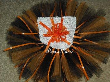 Hand Made TUTU Skirt, 2 Tone Orange Newborn - 3 months