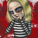 Gloomy Ghoul Twitch Gothic Gothic Creepy Boy Big Huge Eyes Dark Horror Art Print