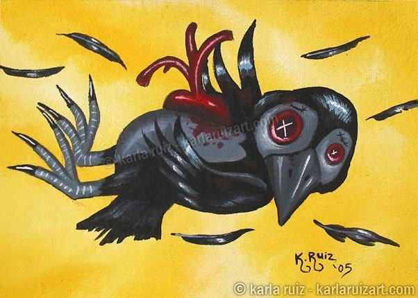 Coal The Crow - Mini Art Print