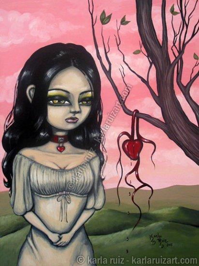 Parching of Valentines Heart - Mini Art Print