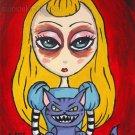 Alice and Cheshire Cat - Mini Art Print