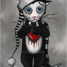 Morky the Rag Doll Cat - Mini Art Print