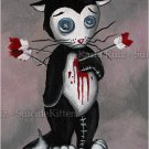 Morky Valentine Cupid Attack - Mini Art Print