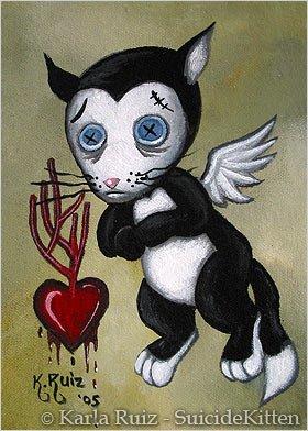 Morky Valentine Cupid in Distress - Mini Art Print