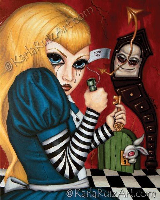 The Potion - Goth Fantasy Art Print