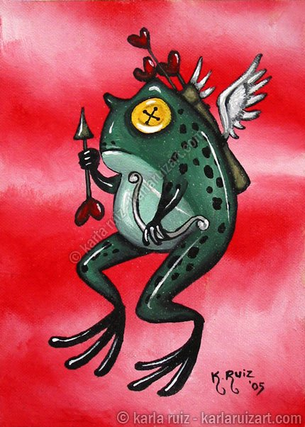 The Green Cupid - Mini Art Print