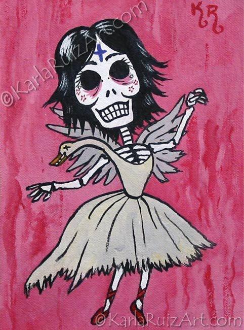 Day of the Dead: Bjork - Mini Art Print