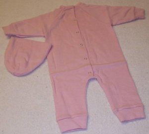 Apple Valley Dolls PINK SLEEPER SUIT WITH PINK CAP BRAND NEW