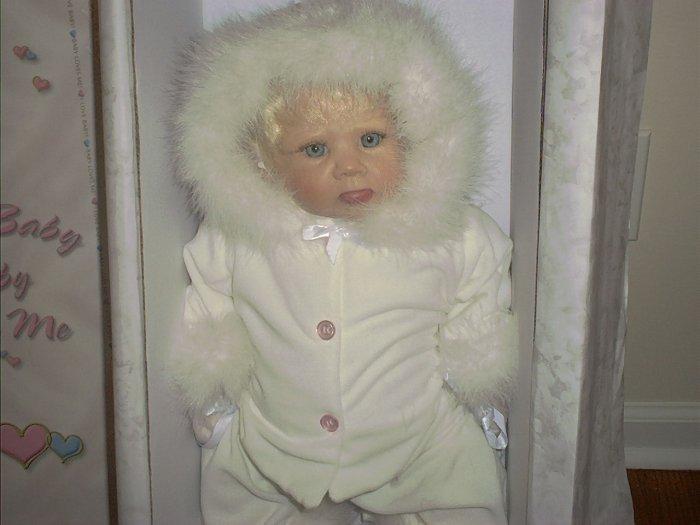 """Doll Maker SNOWY 22"""" Silicone Vinyl Baby Doll NIB LE#100/300"""