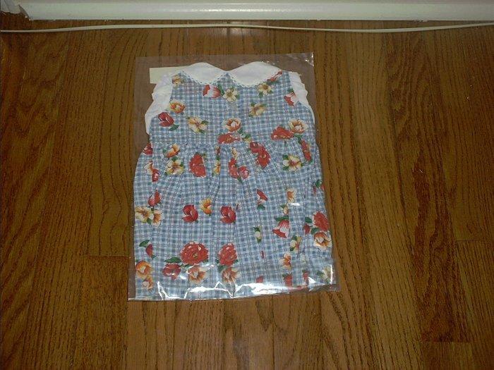 Apple Valley Dolls PRETTY FLOWER PRINT DRESS w/WHITE BLOUSE NEW!