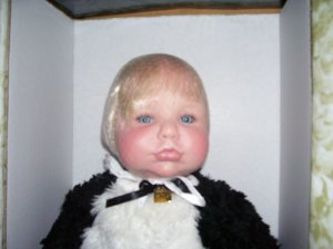 """The Doll Maker MOO MOO MIKEY A PINT FULL OF MOO 20"""" Silicone Vinyl Doll NEW! LE#029/150"""