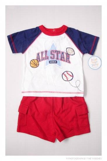 [SALE] 9M Babyboy Carter's Shortsleeve and Shorts Set: All Star