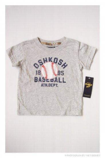 [SALE] 3-6M Unisex OshKosh B'gosh Shortsleeve Top: 1895 Baseball Ath. Dept.