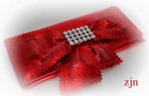 """Valentina""Purse by Zhanna Zabolotskaia.Red color leather."