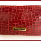 Small evening wallet/ purse - red print croco