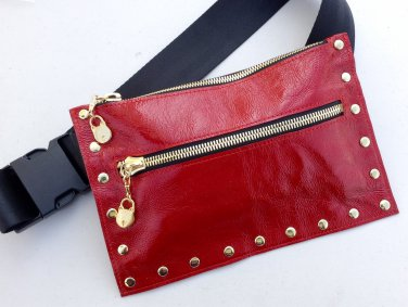 Red color travel bag