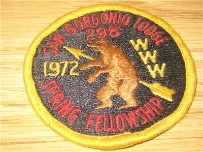 RARE Boy Scouts bsa oa lodge 298 SAN GORGONIO PATCH