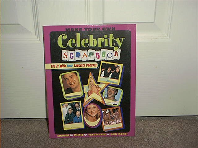 Make Your Own Celebrity Scrapbook Hardcover NEW