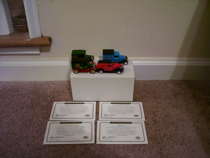 MATCHBOX SET OF 4 DIECAST BEER DELIVERY TRUCKS NEW! 1996