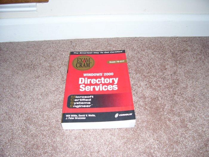 EXAM CRAM WINDOWS 2000 DIRECTORY SERVICES BOOK NEW!