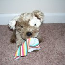 """Animal Alley PUPPY WITH SOCK PLUSH EXCELLENT CONDITION!  9"""" SITTING TOYS R US BRAND"""